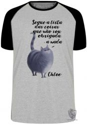 Camiseta Raglan  Pets Chloe