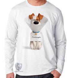 Camiseta Manga Longa Pets Max Cone