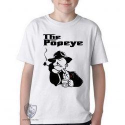 Camiseta Infantil Poderoso Chefão Popeye