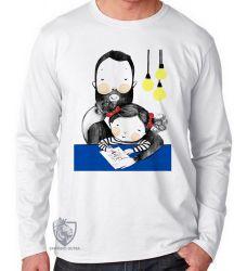 Camiseta Manga Longa Melhor pai menina