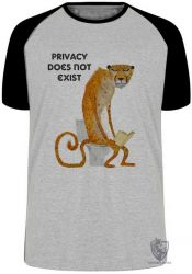 Camiseta Raglan  Privacidade não existe