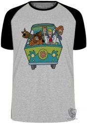 Camiseta Raglan  Scooby Doo van