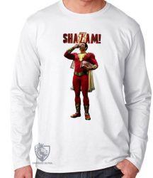 Camiseta Manga Longa Shazam