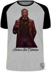 Camiseta Raglan Senhor das Estrelas máscara