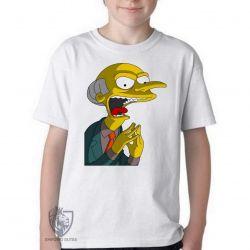 Camiseta Infantil Senhor Burns