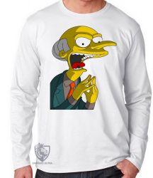 Camiseta Manga Longa Senhor Burns