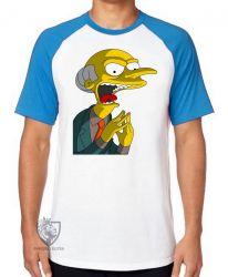 Camiseta Raglan Senhor Burns