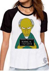 Blusa Feminina Senhor Burns prisão