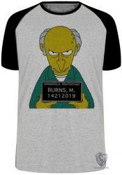 Camiseta Raglan Senhor Burns prisão
