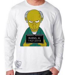 Camiseta Manga Longa Senhor Burns prisão