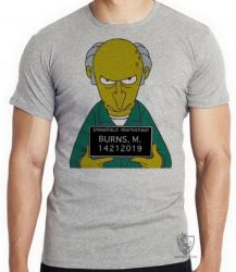 Camiseta Senhor Burns prisão
