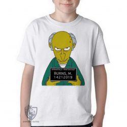 Camiseta Infantil Senhor Burns prisão