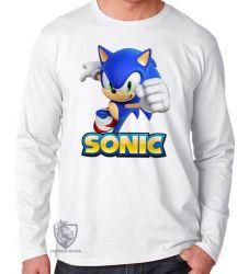 Camiseta Manga Longa Sonic