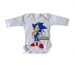 Roupa Bebê manga longa Sonic II