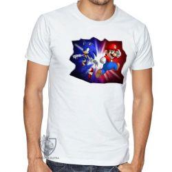 Camiseta Sonic Mário