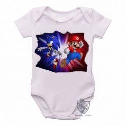 Roupa  Bebê Sonic Mário