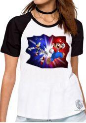 Blusa Feminina  Sonic  Mário