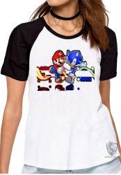 Blusa Feminina  Sonic  Mário II