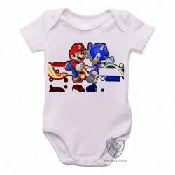 Roupa  Bebê Sonic Mário II
