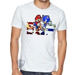 Camiseta Sonic Mário II