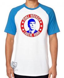 Camiseta Raglan Spock make America