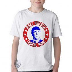 Camiseta Infantil Spock make America