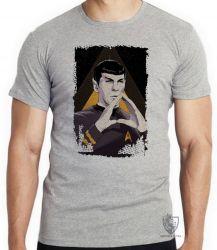 Camiseta Infantil Spock mãos