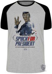 Camiseta Raglan Spock for President