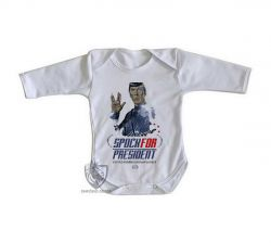 Roupa Bebê manga longa Spock for President