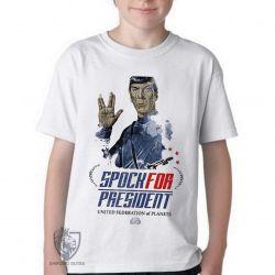 Camiseta Infantil Spock for President