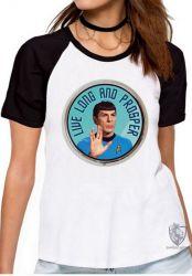 Blusa Feminina  Spock vida longa e próspera