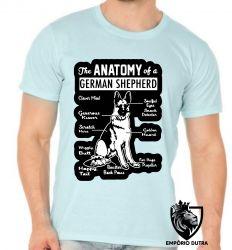 Camiseta anatomia pastor alemão