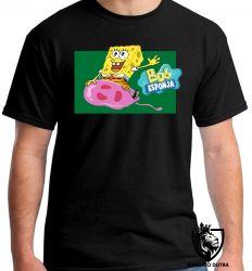Camiseta Bob Esponja e água viva