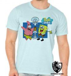 Camiseta Bob Esponja Patrick Lula Molusco