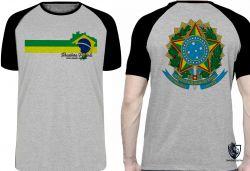 Camiseta Raglan Brasileiro Patriota