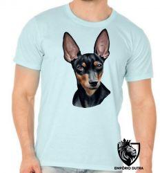 Camiseta pinscher preto marrom