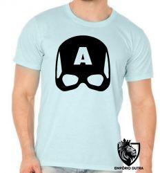 Camiseta capitão america capacete
