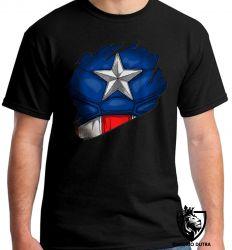 Camiseta capitão america disfarce