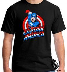 Camiseta capitão america quadrinhos