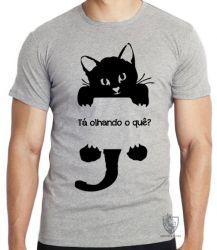 Camiseta Gato tá olhando o quê