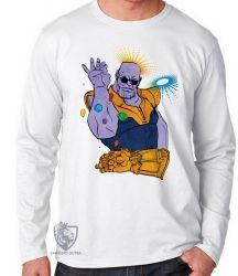 Camiseta Manga Longa Thanos dedos