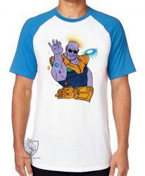 Camiseta Raglan Thanos dedos