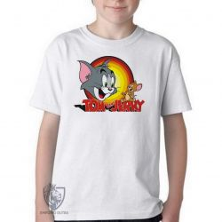 Camiseta Infantil Tom & Jerry amarelo