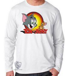 Camiseta Manga Longa Tom & Jerry amarelo