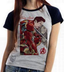 Blusa Feminina Tony Stark Ultimato