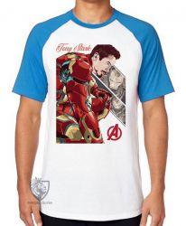 Camiseta Raglan Tony Stark Ultimato