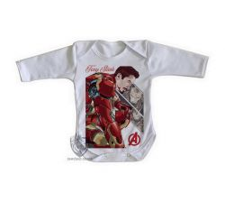 Roupa Bebê manga longa Tony Stark Ultimato