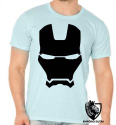 Camiseta Homem Ferro capacete