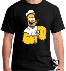 Camiseta Homer Simpsons Popeye