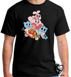 Camiseta Incrivel Mundo de Gumball